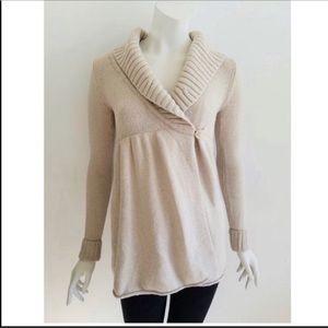 Talula Anthropologie Cream Wrap Cardigan Sweater